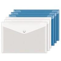 互信 hx5501 A4透明按扣文件袋 10个装
