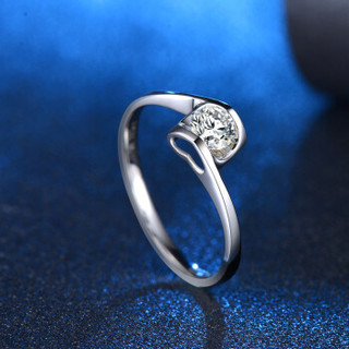 蓝色多瑙河 18K金30分钻戒结婚戒指钻石女戒 天使之吻 HD068N