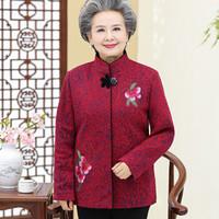 俞兆林 中老年妈妈装韩版长袖上衣百搭休闲外套 YWMM191304 红色 2XL