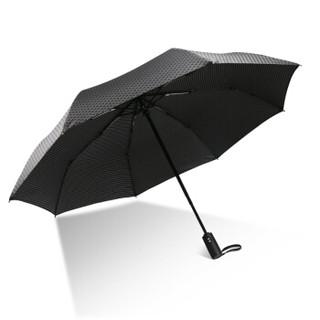 C'mon 格纹自动伞 全自动伞自开自收雨伞折叠男女士创意商务折叠伞 58.5cm*8骨