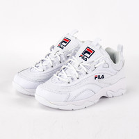 FILA 斐乐 女士新款休闲运动鞋增高厚底老爹鞋小白鞋 建议选大半码