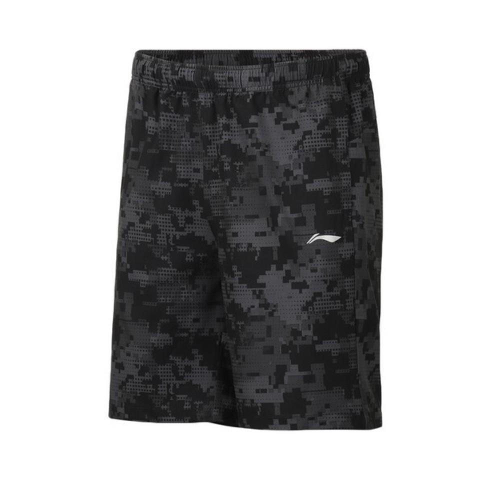 LI-NING 李寧 男士運動褲 AKSP043-4 標準黑匹印 L