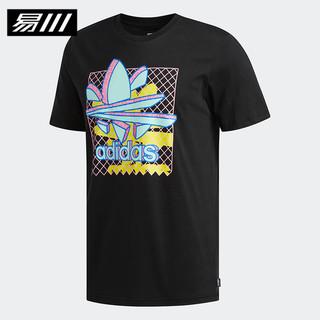 百亿补贴 : adidas 阿迪达斯 DU8367 黑色印花休闲T恤