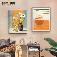 现代简约客厅装饰画沙发背景墙挂画轻奢卧室玄关油画北欧餐厅挂画
