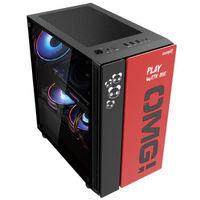游戏悍将 OMG-MATX黑色 Micro中板台式机机箱(支持长显卡/240水冷/玻璃侧透/带防尘网)