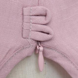 丝柏舍2019夏装新款女复古气质圆领纯色短款简约蕾丝拼接套头雪纺衫  S72R0854A26M   粉色 M