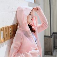 维迩旎 2019春夏季新款女装新品外套女薄款短款修身纯色气质韩版简约防晒衣 yzKX859 粉色 M