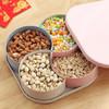 香柚小镇坚果盘水果盘干果盘分格糖果盘北欧客厅家用创意瓜子盘零食盘 糖果盒套装