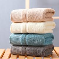 流颜 纯棉毛巾 蓝色+卡其色100克2件