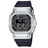 CASIO 卡西欧 G-shock GMW-B5000-1 男士光能手表 50mm 不锈钢 黑色 圆形