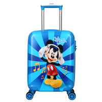迪士尼(Disney)拉杆箱18英寸儿童拉杆箱  小学生行李箱登机箱万向轮旅行箱密码箱 TGMB0234A米奇蓝