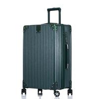 奢选 SHEXUAN 22英寸拉链密码拉杆箱简约时尚休闲旅行箱学生男女行李箱出差旅游箱子大容量 980墨绿色