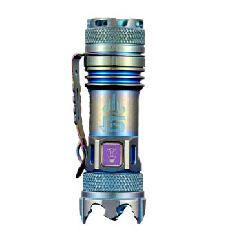 JETBeam杰特明 II pro钛合金强光远射迷你小型充电手电筒户外家用 出厂标配(无充电器电池)12周年钛合金(青蓝)