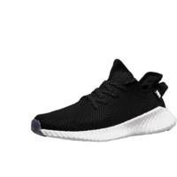 意尔康休闲鞋男透气网面跑步鞋创意纯色运动鞋 E52901208 玛瑙黑/雪白 42