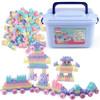亲子企鹅积木玩具 大颗粒男女孩塑料儿童玩具立体拼插组装大块收纳盒装 425粒拼装积木