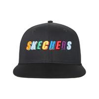 SKECHERS 斯凯奇 SMLD219U019-02K 中性款LOGO棒球帽