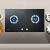 欧派(OPPEIN)家用台式嵌入式燃气灶具 煤气灶双眼灶 4.5KW大火力 钢化玻璃   Q820G(天然气)