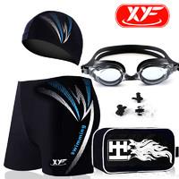 鑫岳丰 T720-15 男士泳裤+泳帽+近视泳镜五件套装