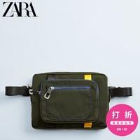 ZARA 男包 卡其色拼接软质腰包斜挎包 13524520032