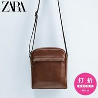 ZARA 男包 棕色迷你腰包斜挎包 16621005100