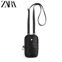 ZARA 新款 黑色单色手机套腰包斜挎包 13915520040