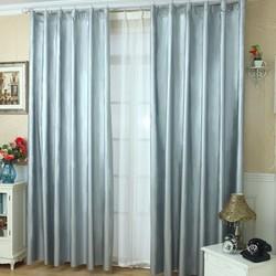 全遮光布窗帘遮阳布挡光卧室挂钩式魔术贴隔热防晒简易免打孔安装