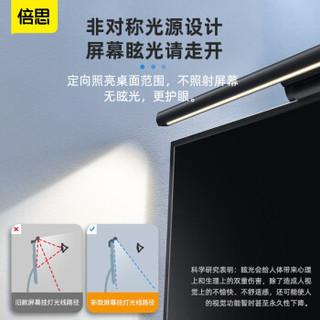 倍思 DGIWK-B01 屏幕挂灯显示器灯USB台灯无极调光显示器灯 (青春版)黑色【触控款-适用于8-20mm屏幕】