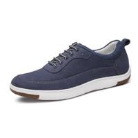 金利来(goldlion)男鞋透气舒适休闲鞋户外运动皮鞋920811020RQA 蓝色 44码