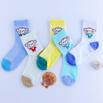 雪皓子 儿童薄款袜子 5双装