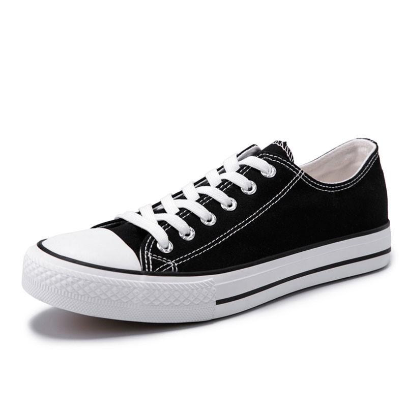 男鞋帆布鞋男经典款学生韩版百搭小白鞋女板鞋