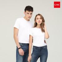 GMC丝柔亲肤短袖T恤男女同款2020夏季纯棉纯色运动休闲圆领T恤