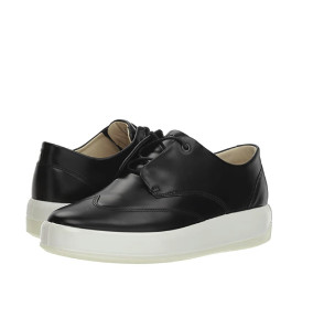 ecco 爱步 Biarritz 男款休闲皮鞋 Black Calf Leather US41