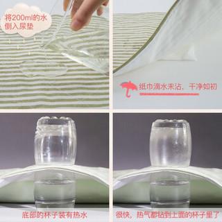 L-LIANG 良良 婴儿麻棉隔尿垫 大号110*72cm 绿色