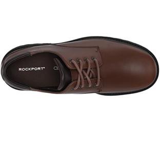 ROCKPORT 乐步 Northfield Oxford 男士防水系带皮鞋 Dark Brown US 6.5