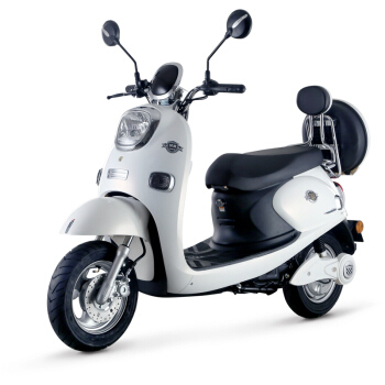 Luyuan 绿源 小龟王电动摩托车 2速/内二速 10英寸 LY800DQT-5B 白色