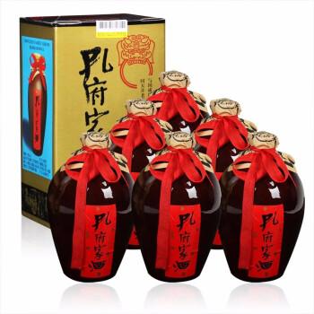 孔府家酒 大陶39度500ml 浓香风格型白酒低度 山东送礼曲阜地方名酒 整箱装(500ml*6瓶) 标配