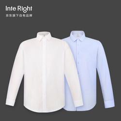INTERIGHT 衬衫男 100支双小珠地衬衫男士商务免烫长袖 白色 42码 *3件