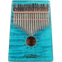 GECKO 壁虎拇指琴便携卡林巴琴17音非洲手指琴拇指琴乐器kalimba枫木复古蓝