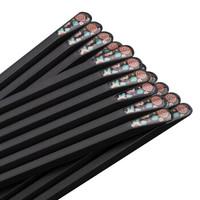 优圣美帝(U.SEMD) 合金筷子套装 无漆不发霉防滑日式创意尖头筷子 10双装 幸运草ZX251