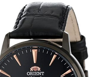 ORIENT 东方双狮 Esteem系列 FDB08002B 男款机械表 42.5mm 黑色 黑色 皮革