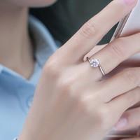 知尊 莫桑钻石戒指可调节 1克拉 +凑单品