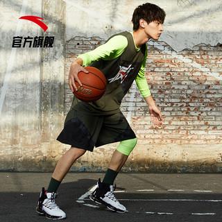 安踏要疯篮球服运动套装官网夏季新款篮球套装球衣潮15941204