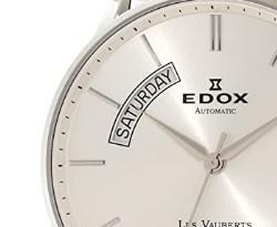 EDOX 依度 Les Vauberts系列 83011-3B-AIN 男士机械腕表 43mm 银色 银色 不锈钢