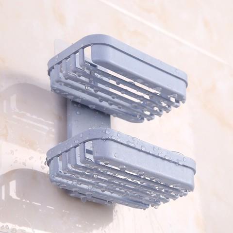 怡欣 免打孔肥皂盒卫生间沥水创意壁挂香皂架浴室置物架吸盘双层肥皂架