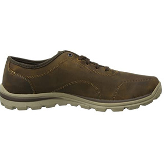 SKECHERS 斯凯奇 Superior Harvin 男士休闲皮鞋 Dark Brown UK12