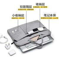 皇室军刀 电脑包 苹果华硕联想戴尔内胆包13.3-14英寸抗震笔记本包手提包 SA-9987S灰色