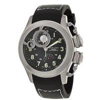 HAMILTON 汉米尔顿 卡其海军系列 H77746333 男士机械手表 43mm 黑盘 黑色橡胶表带 圆形