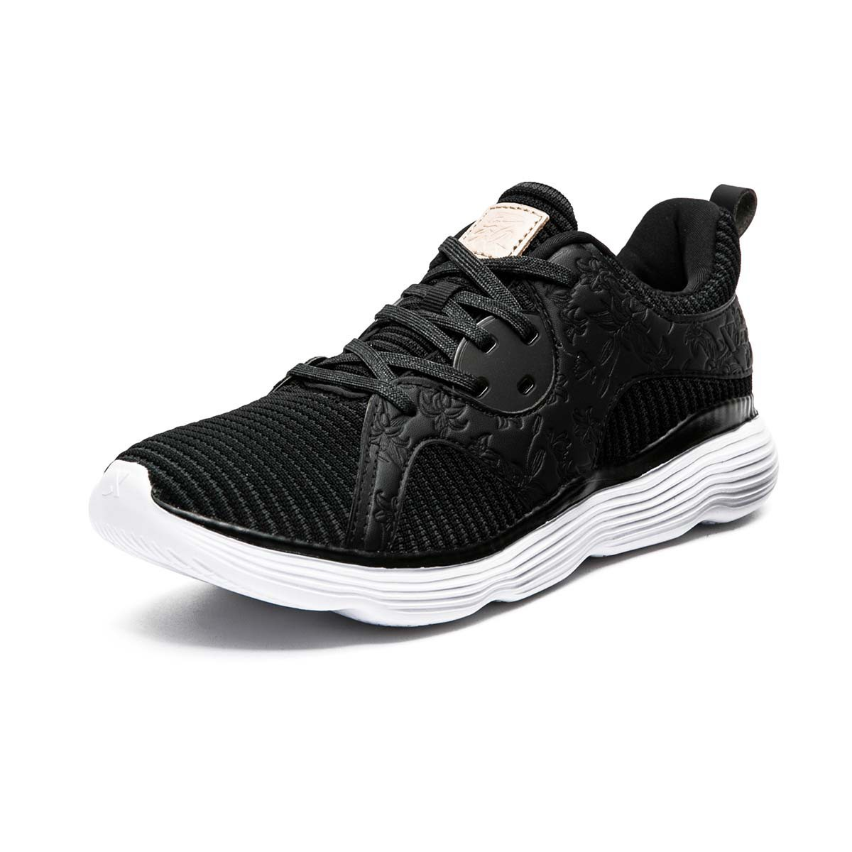 XTEP 特步 女士训练鞋 982318520680 黑米 35