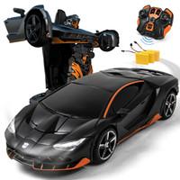乐亲(LECHIN)新奇达擎天柱大黄蜂遥控汽车人一键变形声控感应机器人模型男孩玩具变形金刚系列 热破三电版