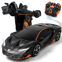 乐亲(LECHIN)新奇达擎天柱大黄蜂遥控汽车人一键变形声控感应机器人模型男孩玩具变形金刚系列 热破